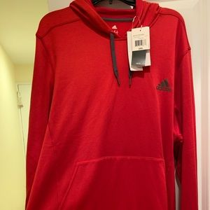 Red Adidas Pullover Hoodie